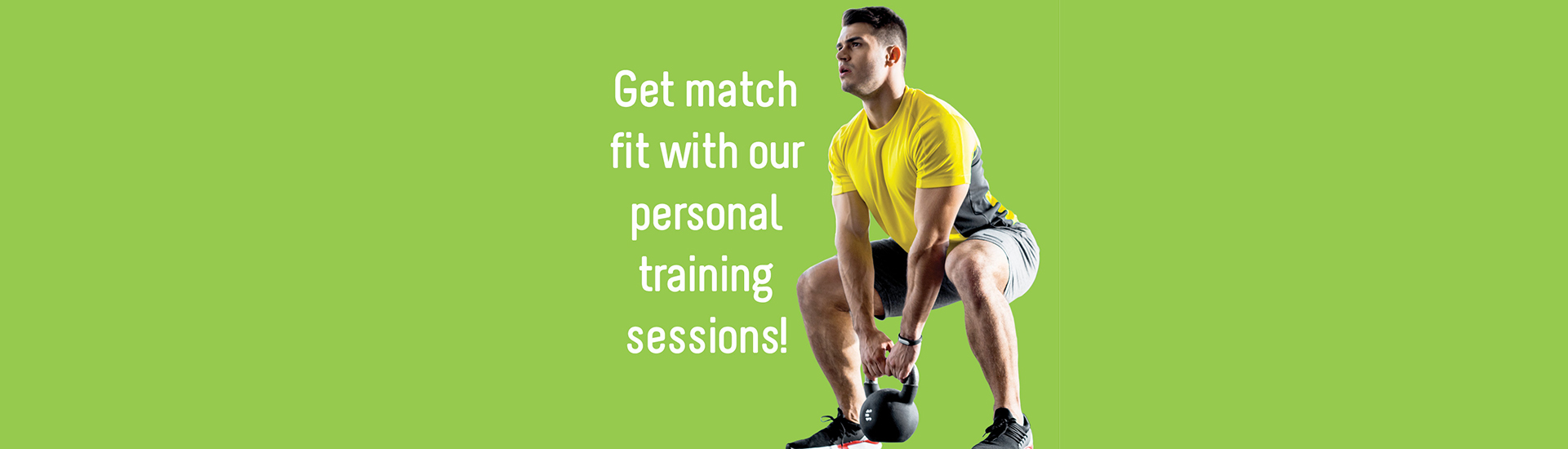 Personal training session promotion image