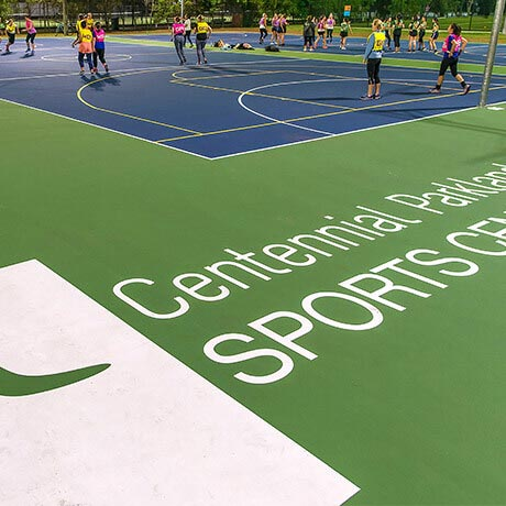 Netball Courts at Parklands Sports Centre